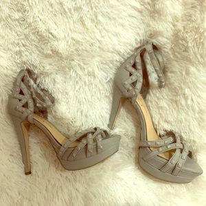 Gray Jessica Simpson Strappy Sandals with Studs